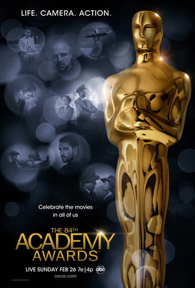 Cartel oficial de los Oscar 2012