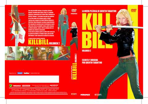 Kill Bill 2. DVD.