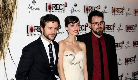 Paco Plaza con protagonistas de REC 3.
