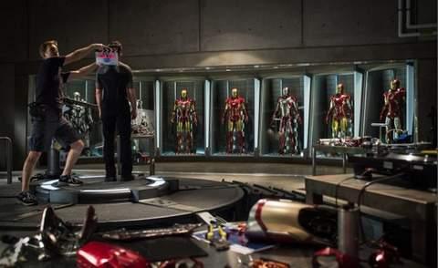 Iron Man rodaje.