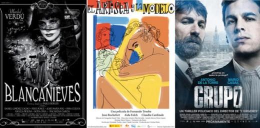 Blancanieves, El artista y la modelo y Grupo 7 a por el Oscar.