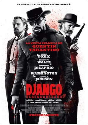 Póster de Django desencadenado.