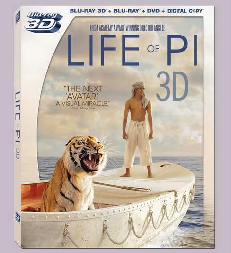 La Vida de Pi, carátula Blu-ray