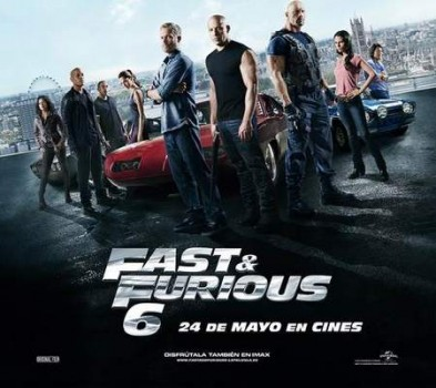 """Fast and Furious 6"", banner."