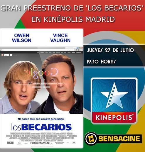 """Concurso Preestreno """"Los Becarios""""."""