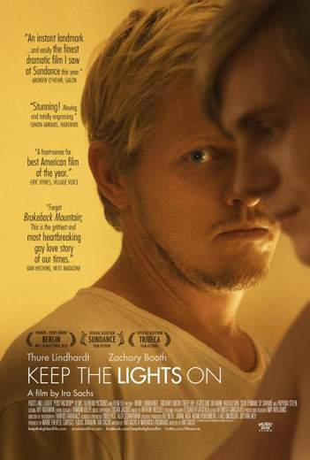 "Póster de ""Keep the Lights on""."