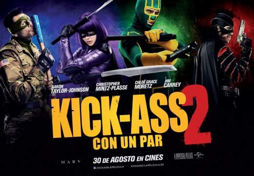 """Cartel de """"Kick-Ass 2. Con un par""""."""