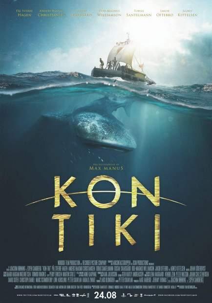 """Póster de """"Kon-Tiki""""."""