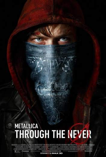"Póster de ""Metallica 3D: Through the Never""."