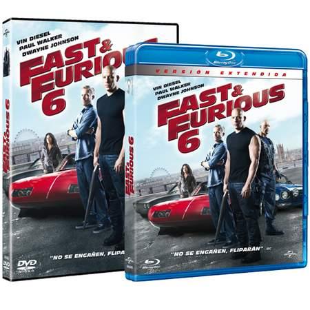 """Carátulas DVD y Blu-ray """"Fast & Furious 6""""."""