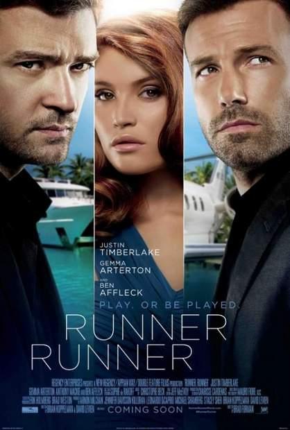 """Póster de """"Runner runner""""."""