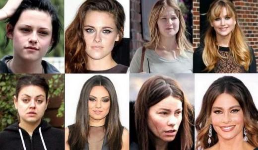 Kristen Stewart, Mila Kunis, Jennifer Lawrence y Sofía Vergara pilladas al natural.