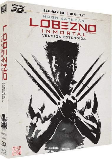 Carátula Blu-ray 3D de Lobezno Inmortal