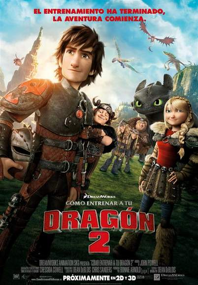 Póster de Cómo entrenar a tu dragón 2