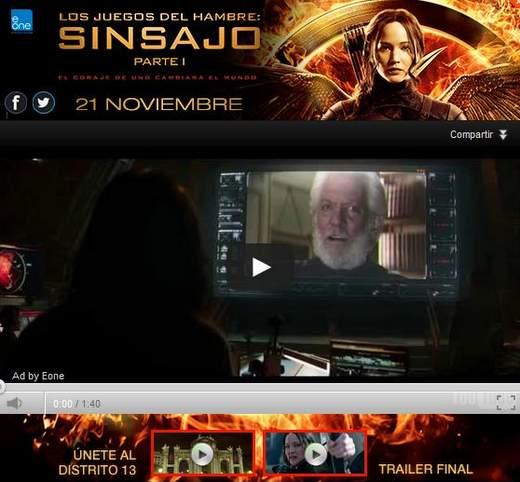 Trailer final de Los Juegos del hambre: Sinsajo - Parte 1