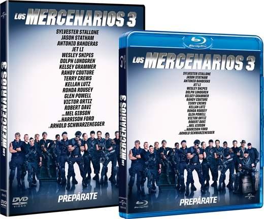 Carátulas Los Mercenarios 3 DVD y Blu-ray
