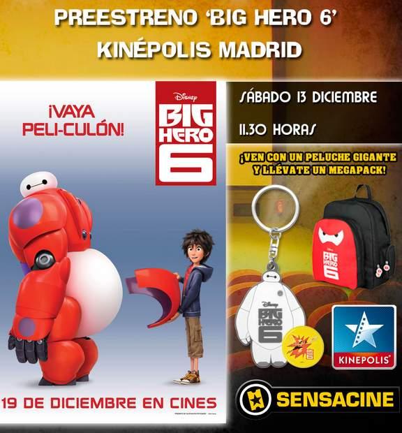 Concurso Preestreno de Big Hero 6