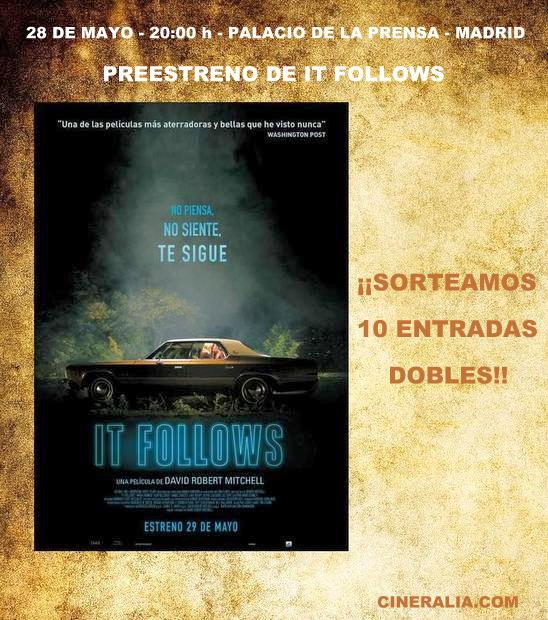 Cartel concurso preestreno de It Follows