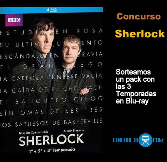 Concurso Sherlock. Las tres temporadas en Blu-ray