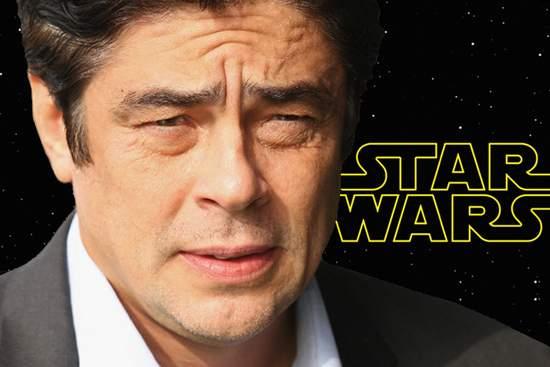 Benicio del Toro villano Star Wars