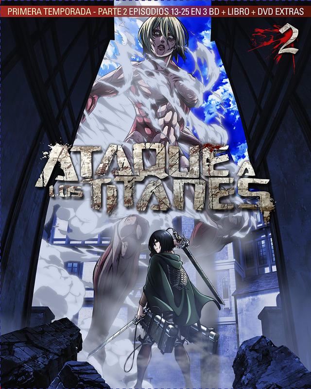 Cartel serie Ataque a los titanes en Blu-ray