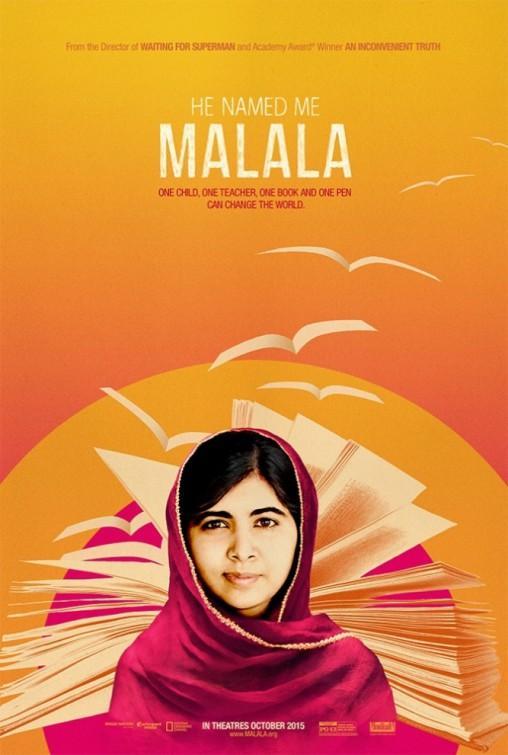 Póster de Él me llamó Malala