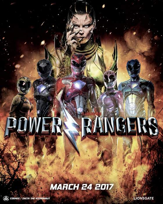 Póster y tráiler de Power Rangers